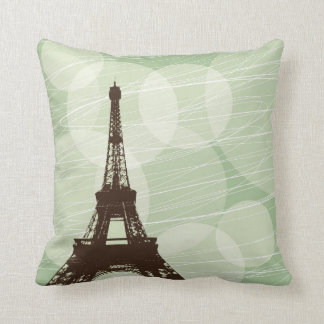 Torre Eiffel - verde Almohada