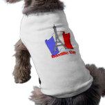 Torre Eiffel y camisetas francesas del día de Bast Playera Sin Mangas Para Perro