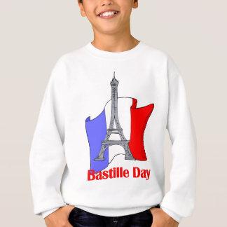 Torre Eiffel y camisetas francesas del día de Playera