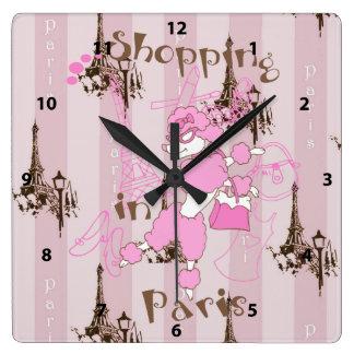 Torre Eiffel y caniche francés - compras en París Reloj
