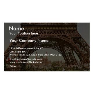 Torre Eiffel y el Trocadero, exposición Univers Plantillas De Tarjetas De Visita