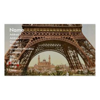 Torre Eiffel y el Trocadero, exposición Univers Plantilla De Tarjeta Personal
