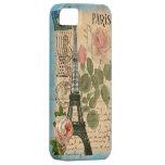 Torre Eiffel y rosas elegantes lamentables de iPhone 5 Carcasas