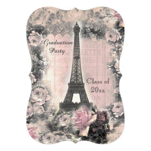 Torre Eiffel y rosas elegantes lamentables de la Comunicado Personal