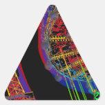 Torre Eiffel y tiovivo Pegatinas Trianguladas