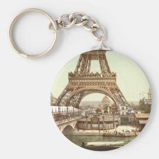 Torre Eiffel y vista general de los argumentos, ex Llavero Redondo Tipo Pin