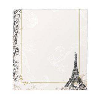 Torre Eiffel y volutas de París Libreta Para Notas