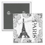 Torre Eiffel y volutas de París Pin