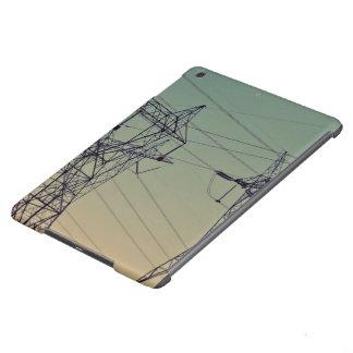 torre eléctrica del transmisor bajo crepúsculo funda para iPad air