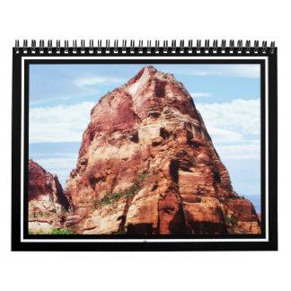 Torre en el parque nacional de Zion Calendario