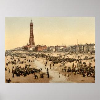 Torre II, Lancashire, Inglaterra de Blackpool Póster