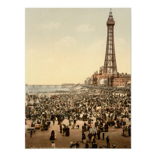 Torre III, Lancashire, Inglaterra de Blackpool Póster