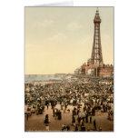 Torre III, Lancashire, Inglaterra de Blackpool Tarjeta De Felicitación