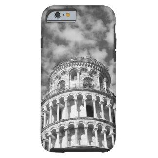 Torre inclinada blanca negra de Pisa Italia Funda De iPhone 6 Tough