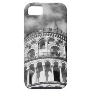 Torre inclinada blanca negra de Pisa Italia Funda Para iPhone 5 Tough