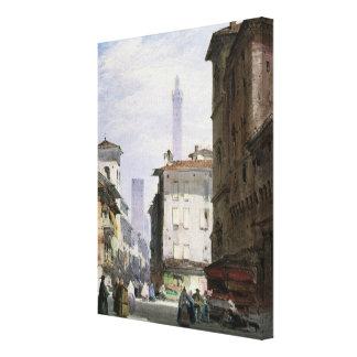 Torre inclinada, Bolonia Impresiones En Lona Estiradas