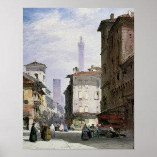 Torre inclinada, Bolonia Póster