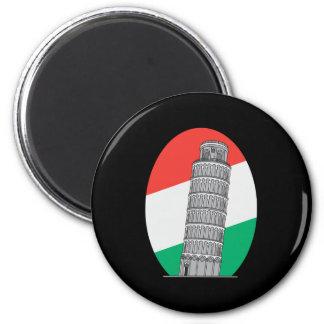 Torre inclinada de Italia de Pisa Imán Redondo 5 Cm