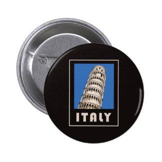 Torre inclinada de Italia de Pisa Pin Redondo De 2 Pulgadas