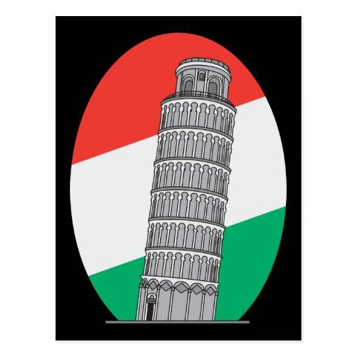 Torre inclinada de Italia de Pisa Postal