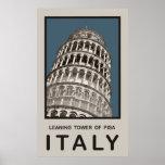 Torre inclinada de Italia de Pisa Poster