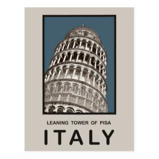 Torre inclinada de Italia de Pisa Postales