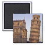 Torre inclinada de Italia, Toscana, Pisa de Pisa y Imán Cuadrado