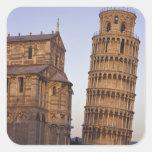 Torre inclinada de Italia, Toscana, Pisa de Pisa y Calcomanías Cuadradas