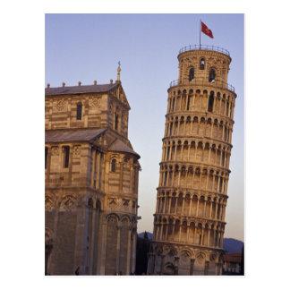 Torre inclinada de Italia, Toscana, Pisa de Pisa y Tarjeta Postal