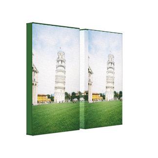 Torre inclinada de la impresión estirada Italia de Impresiones De Lienzo