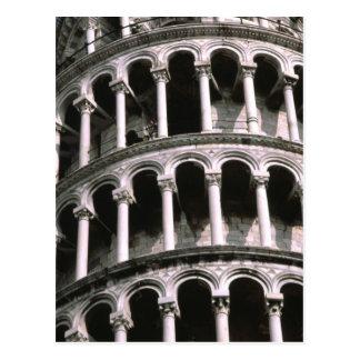 Torre inclinada de la postal de Pisa el |