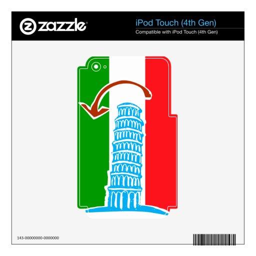 Torre inclinada de Pisa Calcomanías Para iPod Touch 4G