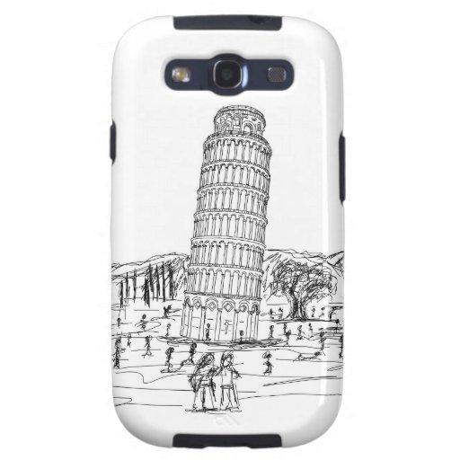 torre inclinada de Pisa Galaxy SIII Cárcasa