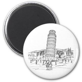 torre inclinada de Pisa Imán Redondo 5 Cm