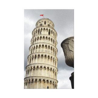 Torre inclinada de Pisa, Italia Impresión En Lienzo Estirada