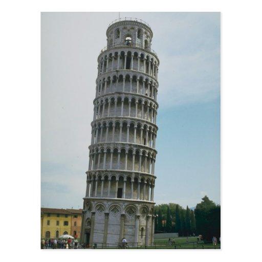 Torre inclinada de Pisa, Italia Postales