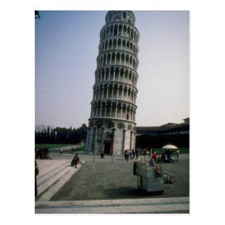 Torre inclinada de Pisa, Italia Tarjeta Postal