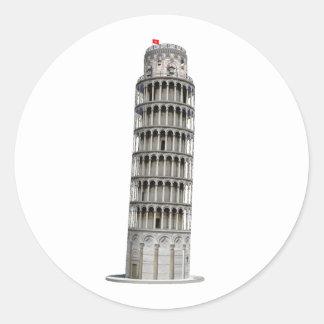 Torre inclinada de Pisa: Pegatina Redonda
