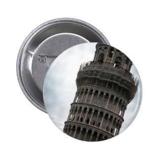 Torre inclinada de Pisa Pin Redondo De 2 Pulgadas