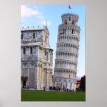 Torre inclinada de Pisa Poster