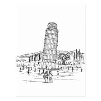 torre inclinada de Pisa Tarjetas Postales
