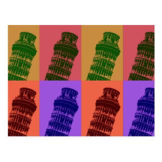 Torre inclinada del arte pop de Pisa Tarjeta Postal