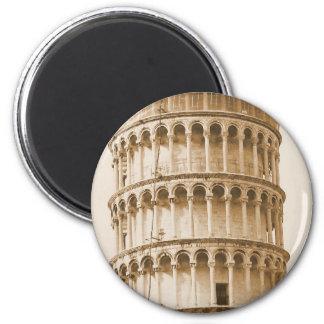 Torre inclinada del imán de Pisa