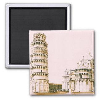 Torre inclinada del imán del vintage de Pisa