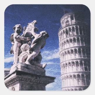 Torre inclinada del pegatina de Pisa