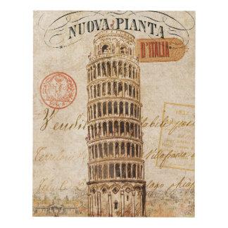 Torre inclinada del vintage de Pisa Cuadro