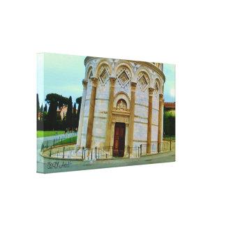 Torre inclinada, Pisa en la oscuridad, impresión Impresiones En Lona Estiradas