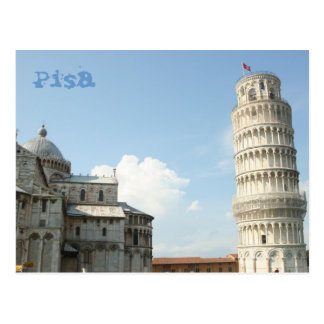 Torre inclinada postal