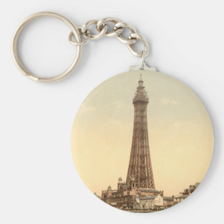 Torre IV, Lancashire, Inglaterra de Blackpool Llavero Redondo Tipo Pin