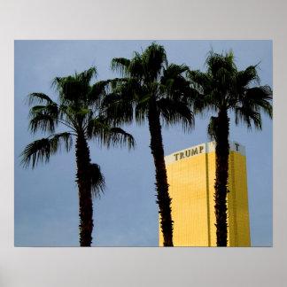 Torre Las Vegas del triunfo del horizonte y poster